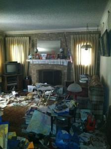 Hoarder Home - Hoarded Family Room
