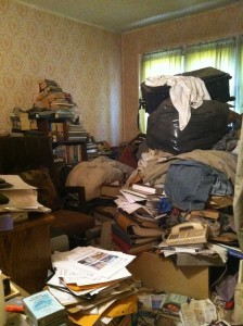 Hoarding Houses We Buy and How it Works hoarder home hoarded room 224x300